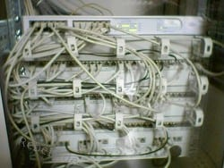 Netzwerkverkabelung im Jahr 2004