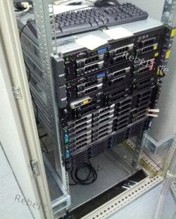 Betreuung von 5 Servern in einen Serverschrank